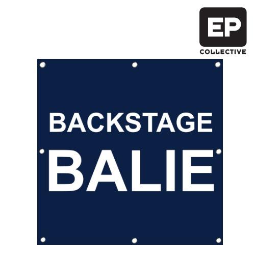 Backstage balie