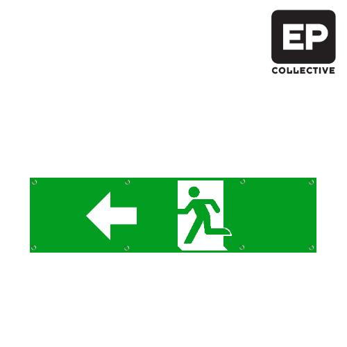 Opzet nooduitgang naar links